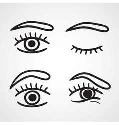 Eyes icons design vector