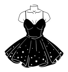 female black gothic dress on a mannequin vector image