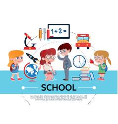 flat school concept vector image