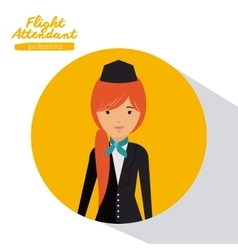 flight attendant design vector image