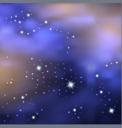 galaxy space background blue night sky with shiny vector image