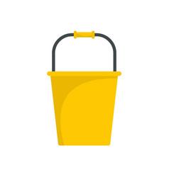 garden bucket icon flat style vector image