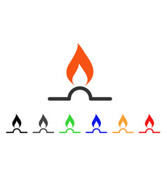 gas flame icon vector image