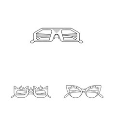 glasses and sunglasses logo vector image