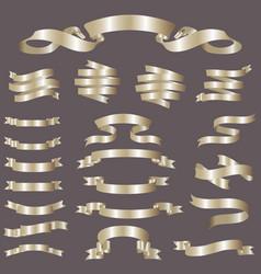 glossy ribbon banners set vector image