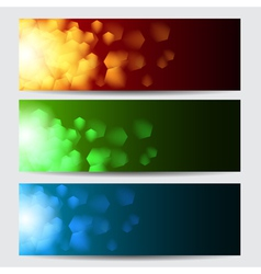 Glowing colorful christmas banners vector