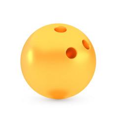 golden bowling award concept shiny realistic vector image