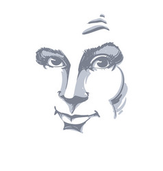 Graphic hand-drawn white skin attractive vector