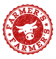 Grunge farmers stamp seal vector