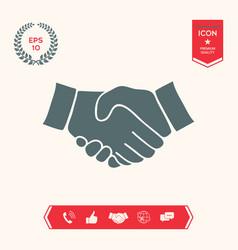 Handshake symbol icon vector
