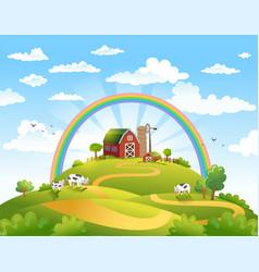 Happy farm vector