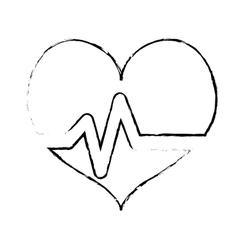 Heart cardiogram health icon image vector