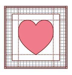 heart in screen workspace graphic design in vector image