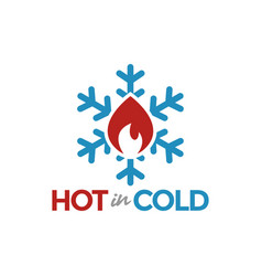 hot in cold logo graphic design template vector image