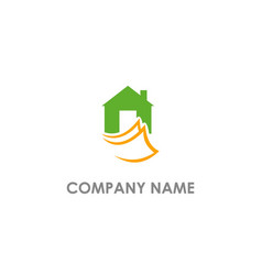 house agent document logo vector image
