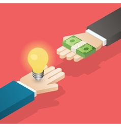 Idea trading for money Business concept vector image