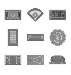 Isolated object grass and game sign set of vector