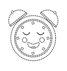 kawaii cartoon clock alarm character vector image