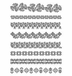 Kazakhstan traditional embroidry vector