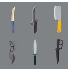 Knifes weapon vector image vector image