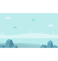 Landscape hill with fog for game backgrounds vector