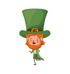 leprechaun standing avatar character vector image