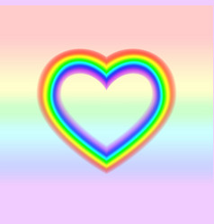 lgbt flag in heart shape lesbian gay bisexual vector image