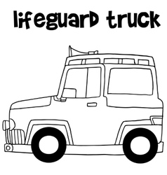 Lifeguard truck design art vector
