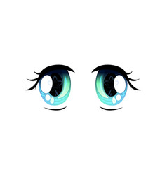 light blue bright eyes beautiful eyes with light vector image