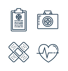 medical healthcare set icons vector image