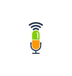 Medicine podcast logo icon design vector