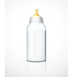 Milk bottle with nipple vector image