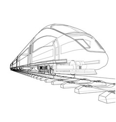 modern speed train concept vector image