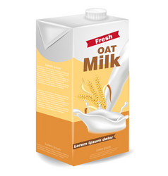 oat milk package isolated on white vector image