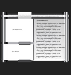 page layout vector image
