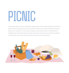 Picnic outdoor relax food vector