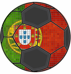 Portugal flag with soccer ball background vector