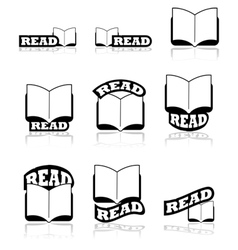 Read icons vector image vector image