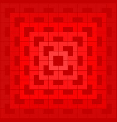 red geometric pattern on red background vector image