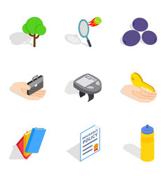 Revival icons set isometric style vector