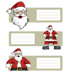 Santa Claus blank labels vector image