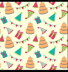 seamless happy birthdayfestive pattern with vector image