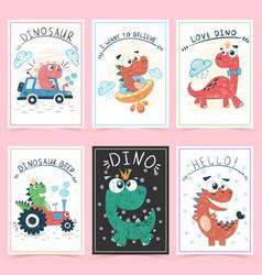 Set teddy animals idea for greeting card vector