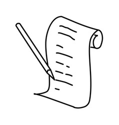 shopping list icon doodle hand drawn or outline vector image