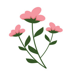 Simple flowery plant graphic vector