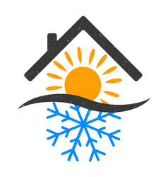 snowflake and sun home vector image