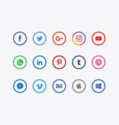 social media logos vector image