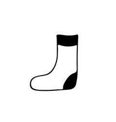 socks icon in doodle style isolated on white vector image