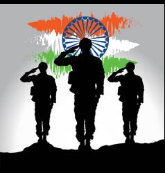 soldier saluting vector image