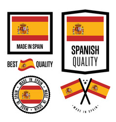 spain quality label set for goods vector image